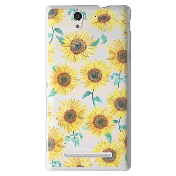 Sony C3 Cases - Sunny Sunflower