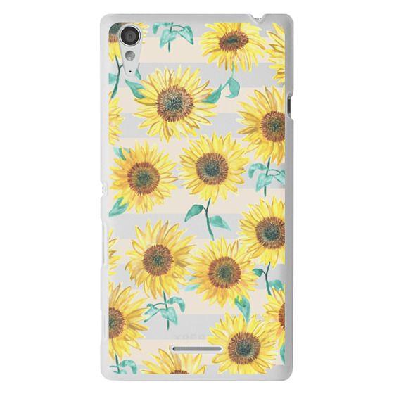 Sony T3 Cases - Sunny Sunflower