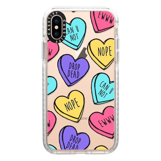 iPhone XS Cases - Bitter Sweet Candy Hearts