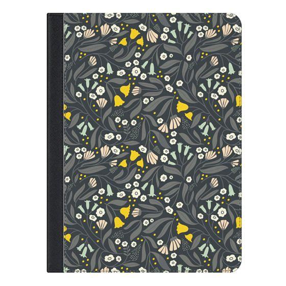 9.7-inch iPad Covers - Tossed Bouquet - Dark