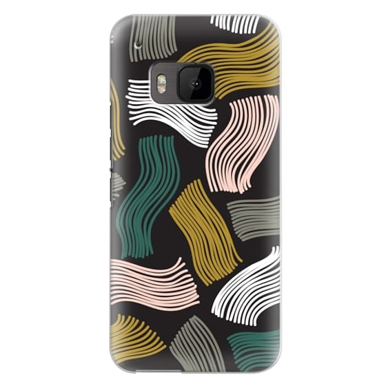 Htc One M9 Cases - Squiggle (black)