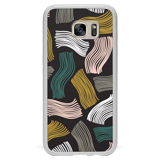 Samsung Galaxy S7 Edge Cases - Squiggle (black)