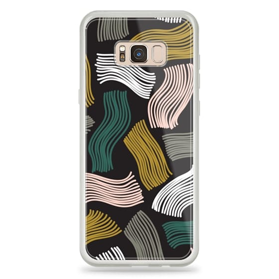 Samsung Galaxy S8 Plus Cases - Squiggle (black)