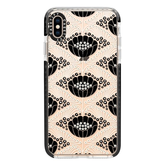 iPhone XS Max Cases - Art Deco Blossom (clear)