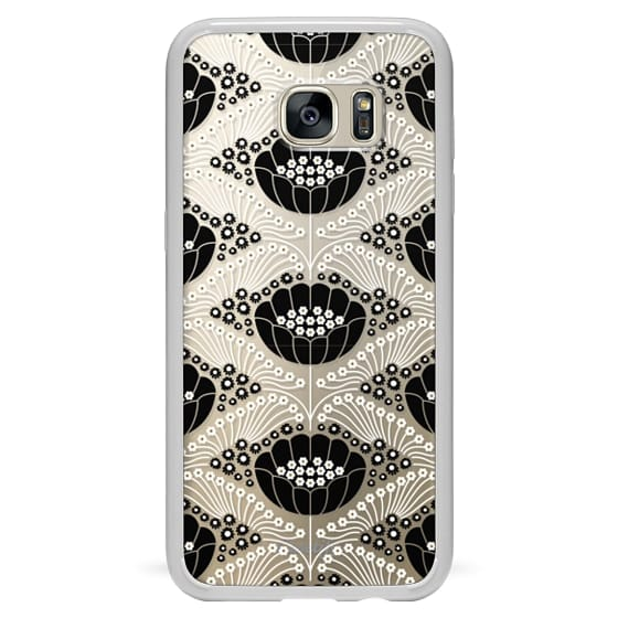 Samsung Galaxy S7 Edge Cases - Art Deco Blossom (clear)