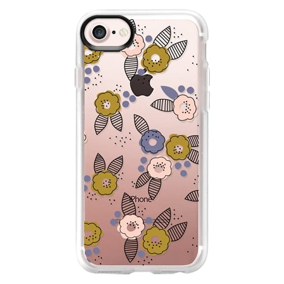 iPhone 7 Cases - Stripe Floral