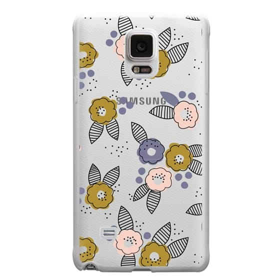 Samsung Galaxy Note 4 Cases - Stripe Floral
