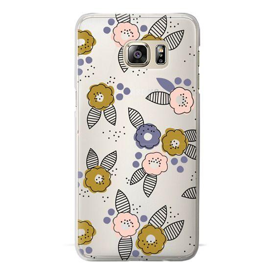 Samsung Galaxy S6 Edge Plus Cases - Stripe Floral