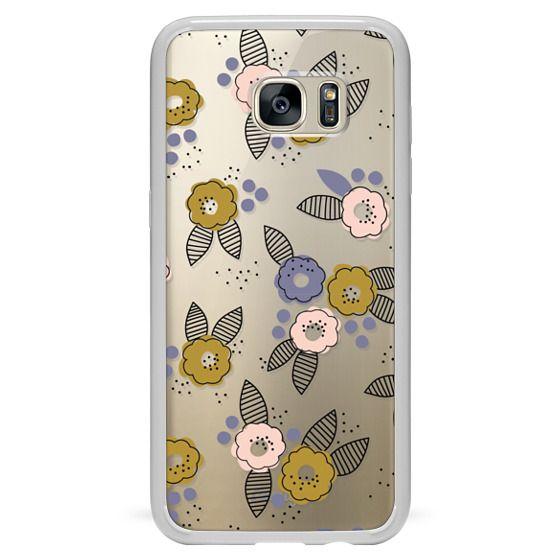 Samsung Galaxy S7 Edge Cases - Stripe Floral