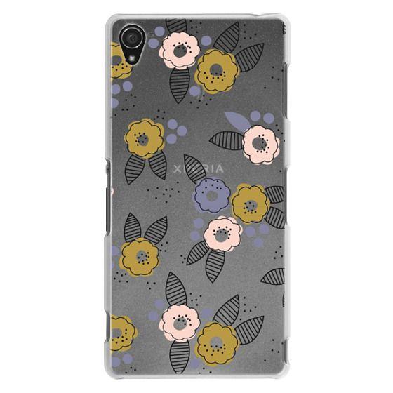 Sony Z3 Cases - Stripe Floral