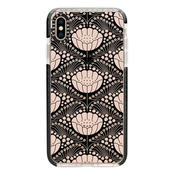 iPhone XS Max Cases - Art Deco Blossom (black)