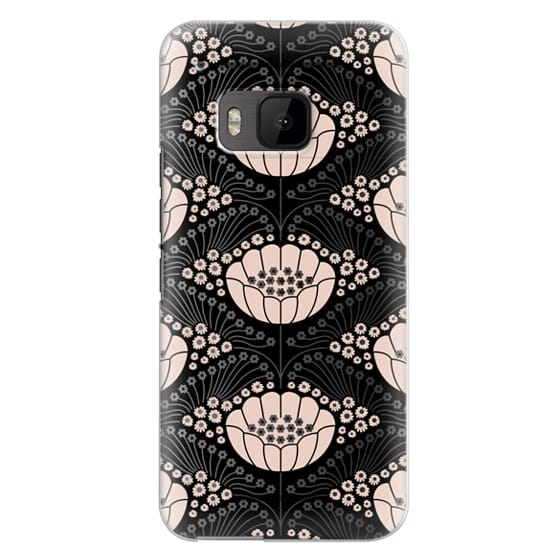 Htc One M9 Cases - Art Deco Blossom (black)