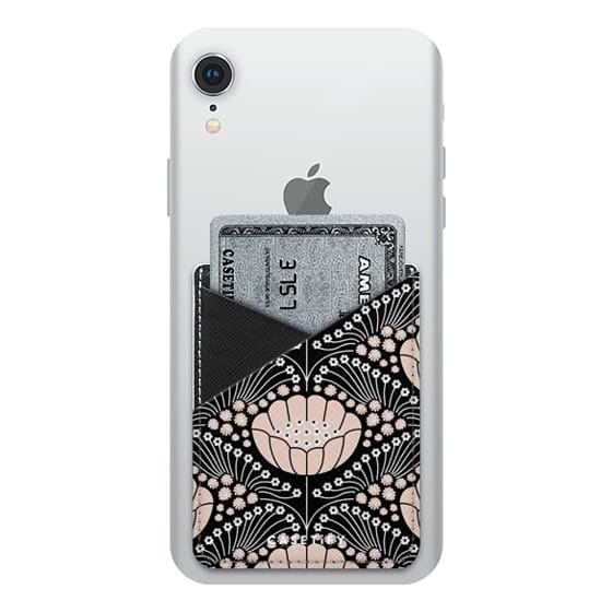 iPhone XR Cases - Art Deco Blossom (black)
