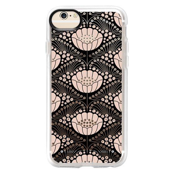 iPhone 6 Cases - Art Deco Blossom (black)