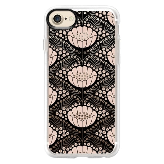 iPhone 7 Cases - Art Deco Blossom (black)