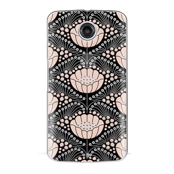 Nexus 6 Cases - Art Deco Blossom (black)
