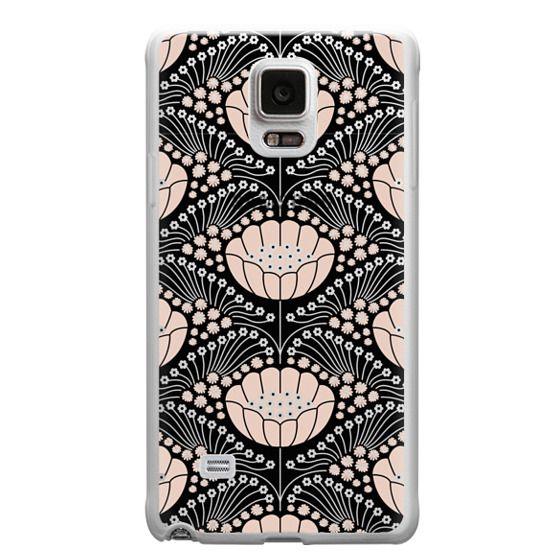 Samsung Galaxy Note 4 Cases - Art Deco Blossom (black)