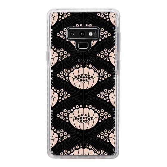 Samsung Galaxy Note 9 Cases - Art Deco Blossom (black)