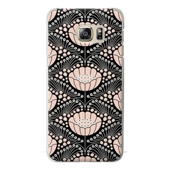 Samsung Galaxy S6 Edge Plus Cases - Art Deco Blossom (black)