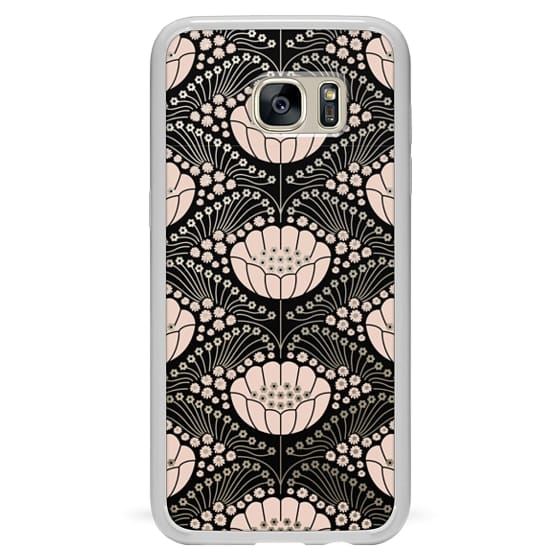 Samsung Galaxy S7 Edge Cases - Art Deco Blossom (black)