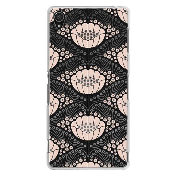 Sony Z3 Cases - Art Deco Blossom (black)