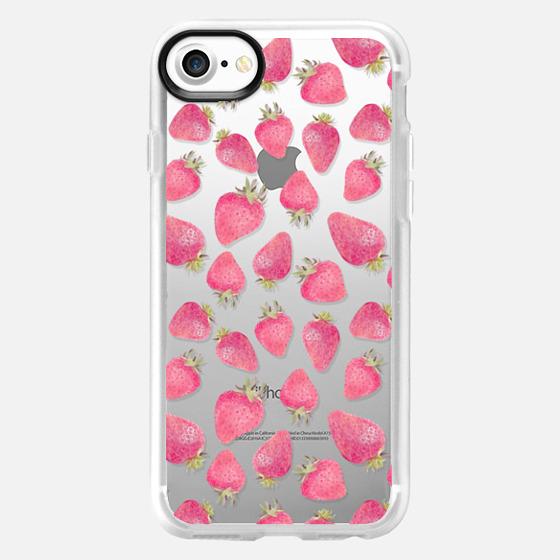 Pink strawberry pattern -