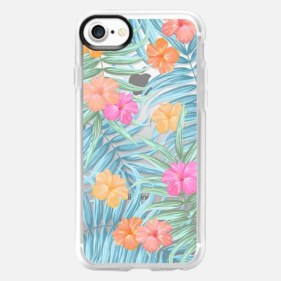 Palm leaves floral transparent pattern - Wallet Case