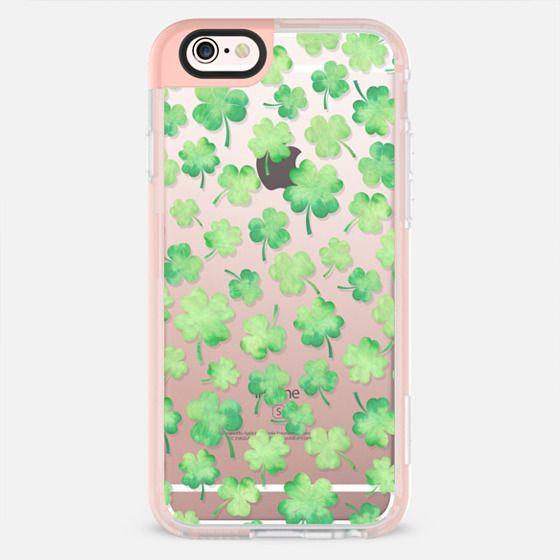 Lucky shamrock green watercolor pattern -