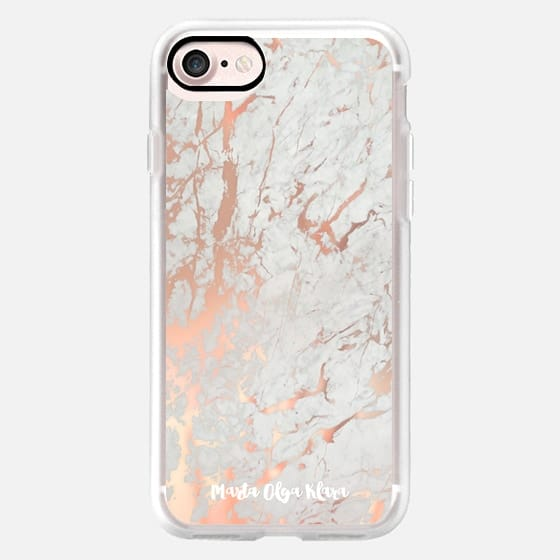 Rose gold marble / pink marble pattern -