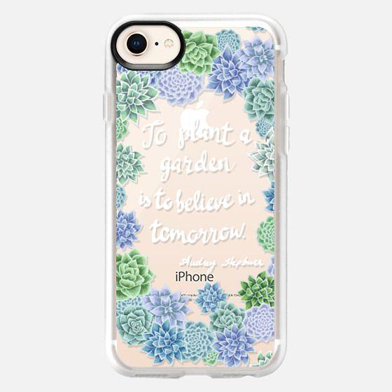 Garden inspiration by Audrey Hepburn, succulent floral wreath - Snap Case