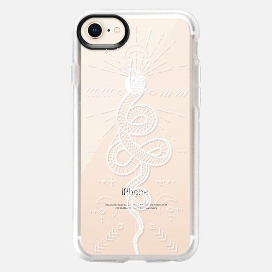 White lace mystic moon snake pattern - Snap Case