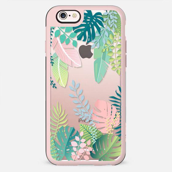 Pastel jungle floral / tropical leaves pattern