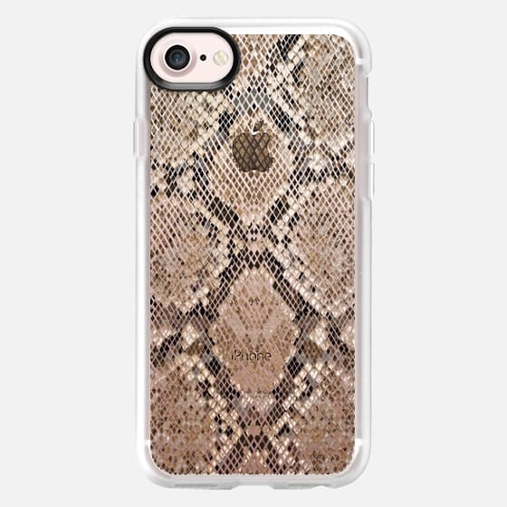 transparent background snake skin pattern - Classic Grip Case