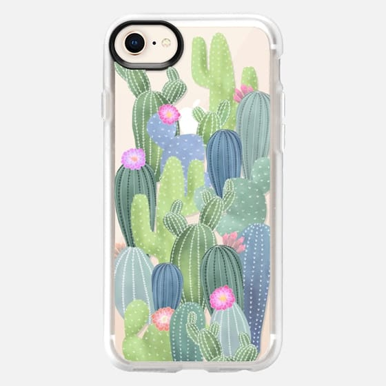 Watercolor Cactus pattern / cacti on transparent background - Snap Case