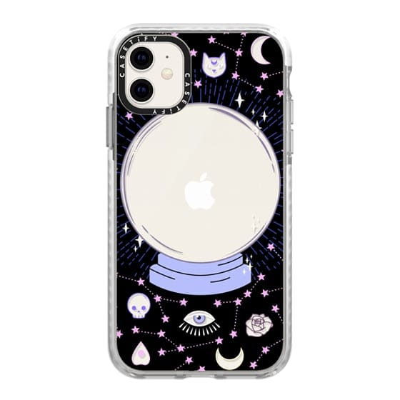 iPhone 11 Cases - Crystal ball on black background / mystical, magical, dreamy pattern