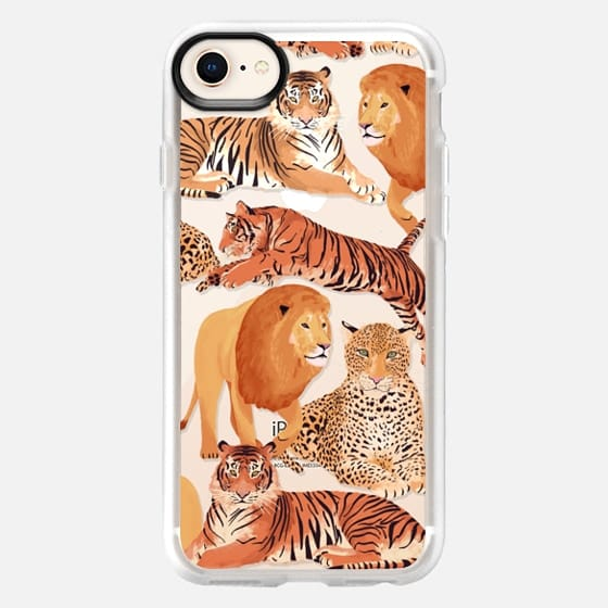 Wild Cats / Lion, Tiger and  Leopard pattern - Snap Case