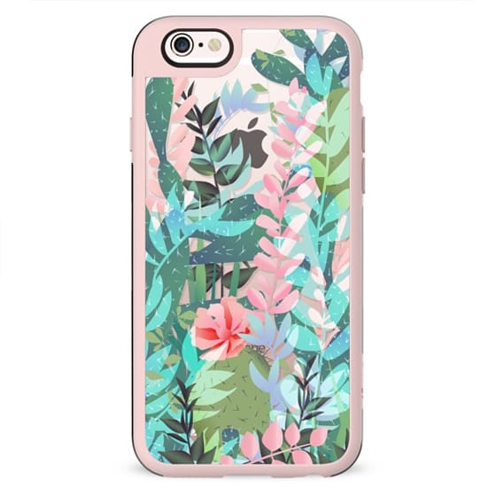 Cactus jungle / green, turquoise and pink floral
