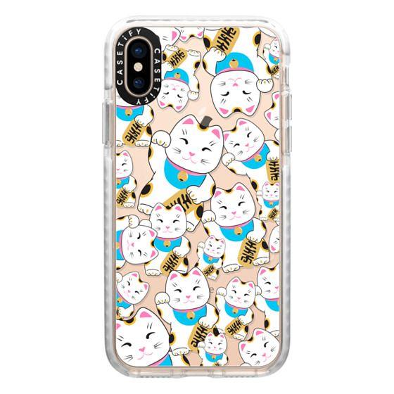iPhone XS Cases - Good luck cat maneki-neko
