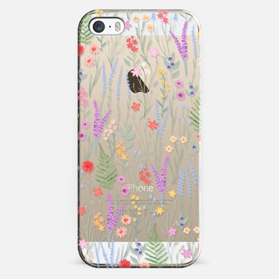 iPhone 5s Case - the meadow / floral watercolor illustration pattern on clear background