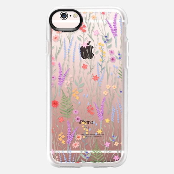 iPhone 6s Case - the meadow / floral watercolor illustration pattern on clear background