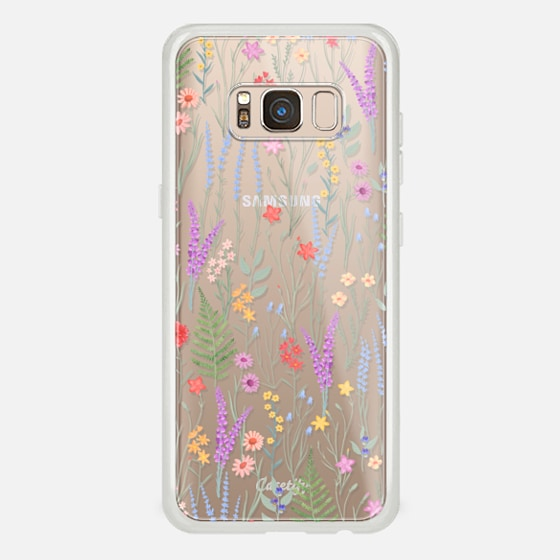Galaxy S8 Coque - the meadow / floral watercolor illustration pattern on clear background