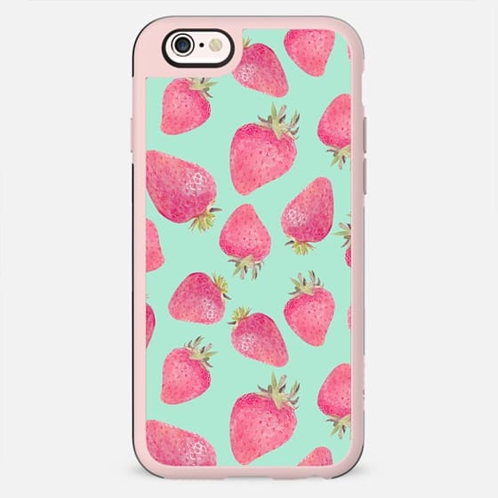 turquoise and strawberries - New Standard Case