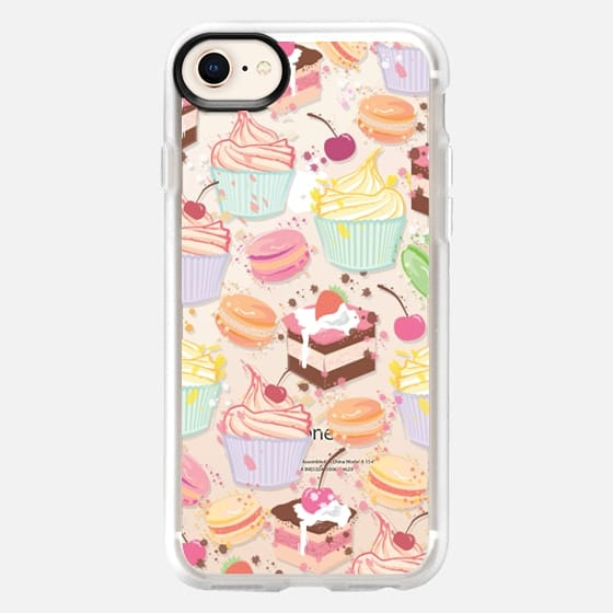 Cupcake, macaroon and a chocolate cake :) sweet pattern  - Snap Case