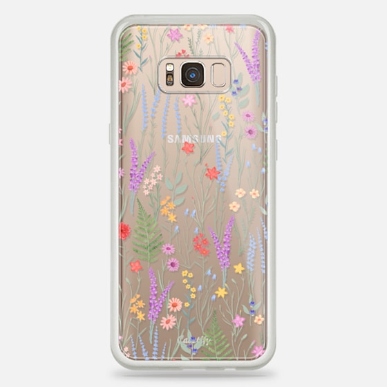 Galaxy S8+ Case - the meadow / floral watercolor illustration pattern on clear background