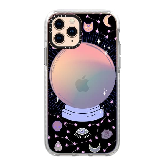 iPhone 11 Pro Cases - Crystal ball on black background / mystical, magical, dreamy pattern
