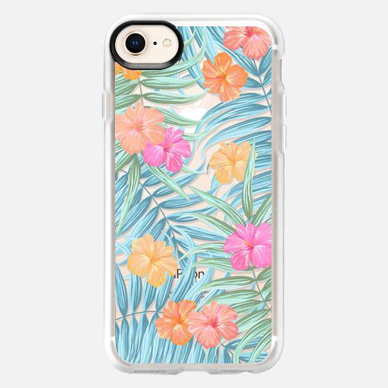 Palm leaves floral transparent pattern - Snap Case