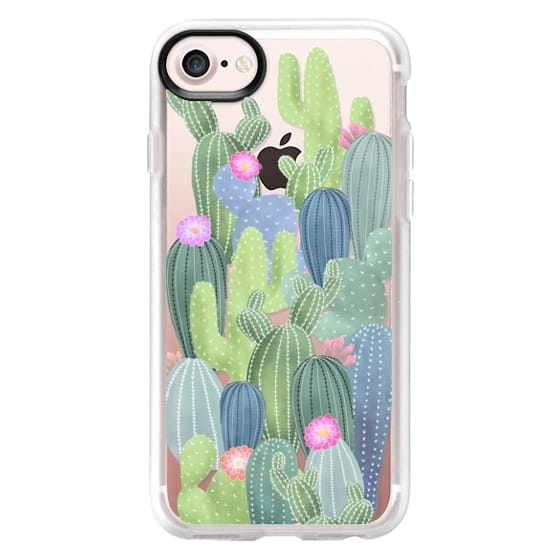 newest 11400 09103 Wood iPhone 6 Case - Watercolor Cactus pattern / cacti on transparent  background