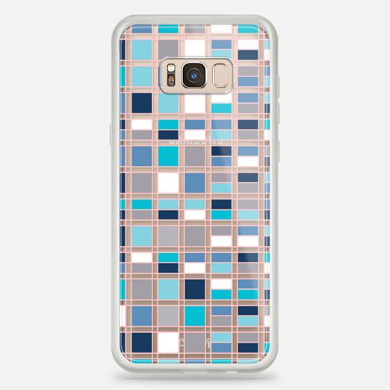 Galaxy S8+ Case - Blue grid 2
