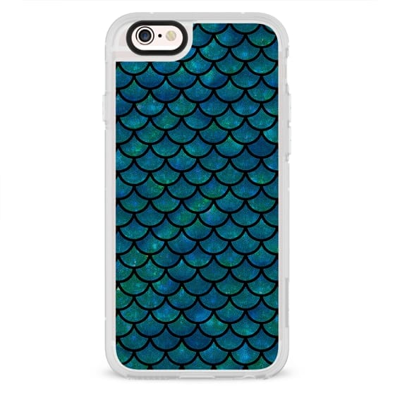 Mermaid scales iridescent shimmer sparkle on black