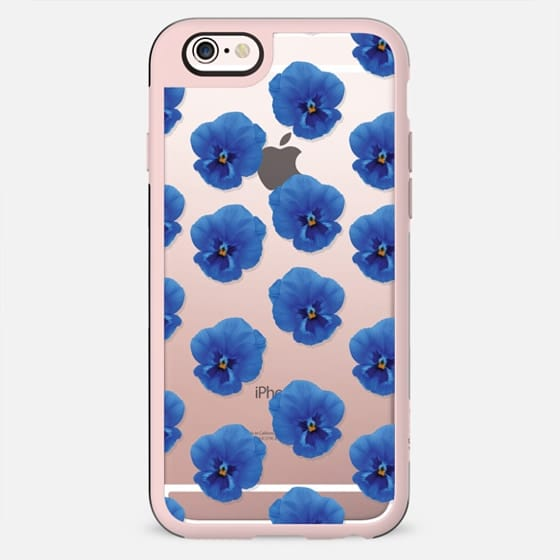 Pansy flowers (floral pattern) - New Standard Case